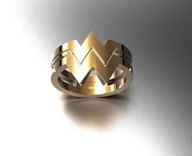 Wonder Woman Rose Gold Ring
