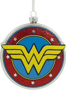 Wonder Woman Shield Christmas Ornament