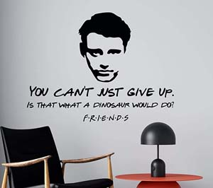 You Can't Just Give Up Quote Wall Decal