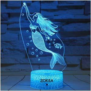 Zokea Mermaid Night Light With Timer