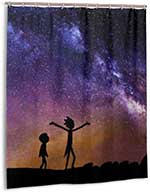Rick And Morty Galaxy Shower Curtain