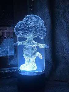 3d Snoopy Light