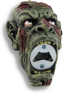5.75 Inch Hand Painted Zombie Bottle Opener