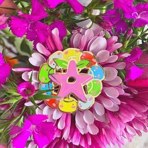 Colorful Junimo Stardrop Pin