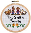 Custom Stardew Valley Family Cross Stitch