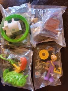 Danny Phantom Burger King 2005 Kids Toys Set Of 4