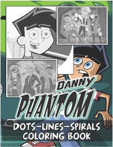 Danny Phantom Dots Lines And Spirals Coloring Book