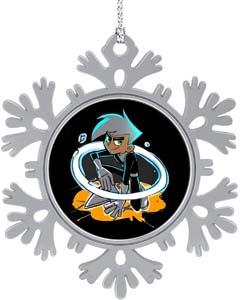Danny Phantom Snowflake Christmas Ornament