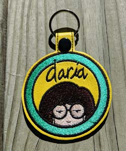 Daria Embroidered Keychain