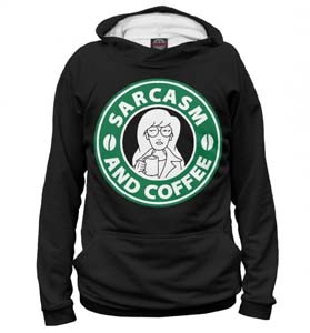 Daria Sarcasm And Coffee Hoodie