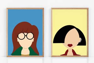 Daria And Jane Minimalist Fan Art