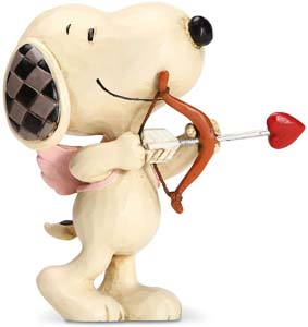 Enesco Peanuts By Jim Shore Snoopy Cupid Love Miniature Figurine