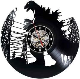 Godzilla Design Decorative Vinyl Record Wall Clock