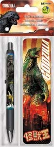 Godzilla Gel Pen And Bookmark