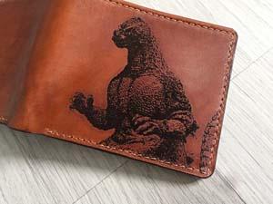 Godzilla Personalized Leather Wallet
