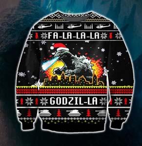 Godzilla Ugly Full Print Christmas Sweater