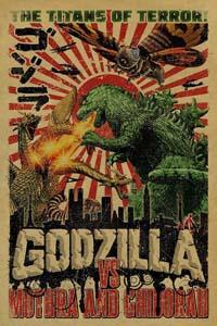 Godzilla Vs Mothra And Ghidorah Poster
