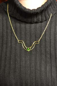 Loki Chestplate Wire Wrapped Necklace