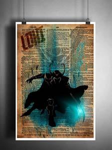 Loki Dictionary Art Print