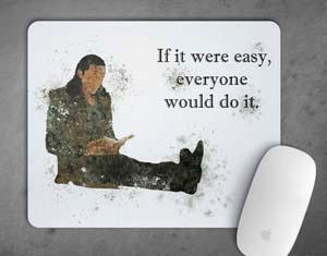 Loki Motivational Quote Mousepad