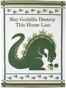 May Godzilla Destroy This Home Last Blessing Kitchen Towel