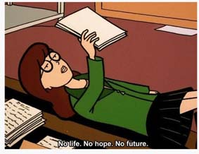 No Life No Hope No Future Daria Sticker