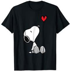 Peanuts Heart Sitting Snoopy T Shirt
