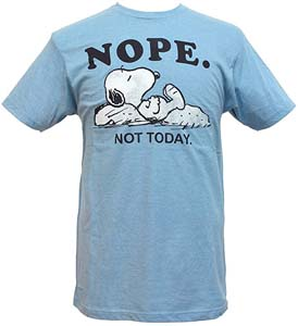 Peanuts Mens Snoopy Nope Not Today T Shirt