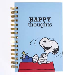 Peanuts Snoopy Happy Thoughts Hard Bound Journal