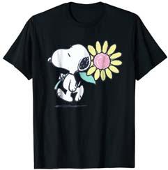 Peanuts Snoopy Pink Daisy Flower T Shirt