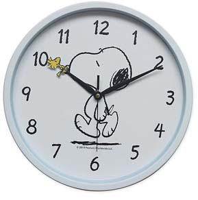 Peanuts Snoopy Wall Clock In White