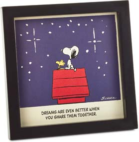 Peanuts Snoopy And Woodstock Dream Together Framed Wall Art