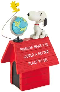 Peanuts Snoopy And Woodstock Friends Make The World Better Figurine