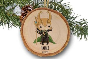 Personalized Loki Christmas Ornament