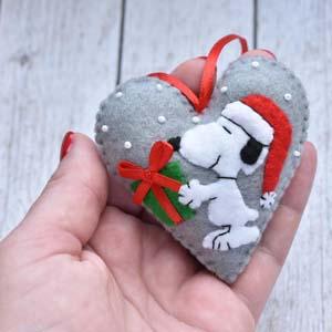 Snoopy Christmas Felt Ornament