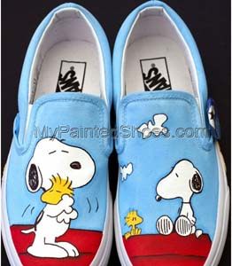 Snoopy Hand Painted Shoes