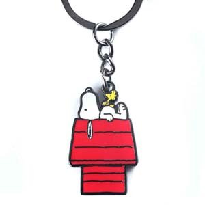 Snoopy And Woodstock House Keychain