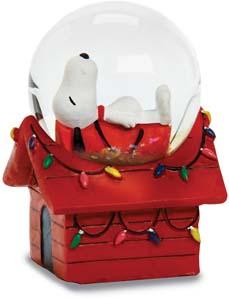 Snoopy On Doghouse Mini Glitterdome