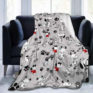 Soft Flannel Snoopy Blanket