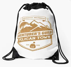 Stardew Valley Adventurers Guild Drawstring Bag