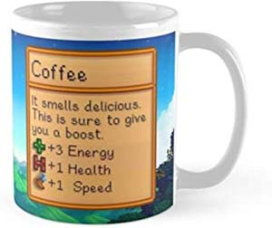Stardew Valley Coffee Stats Mug