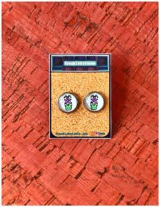 Stardew Valley Junimo With Stardrop Stud Earrings