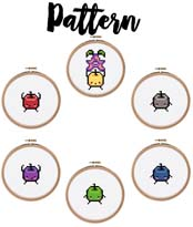 Stardew Valley Junimos Cross Stitch Pattern