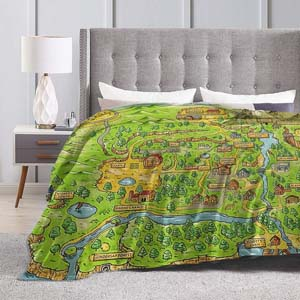Stardew Valley Map Ultra Soft Micro Fleece Blanket