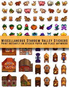 Stardew Valley Miscellaneous Stickers
