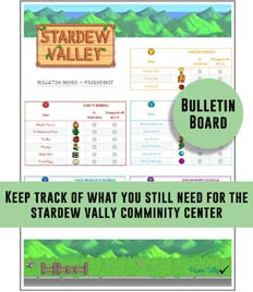 Stardew Valley Printable Checklist