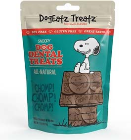 Team Treats Dogeatz Snoopy Rawhide Free Dental Dog Treats