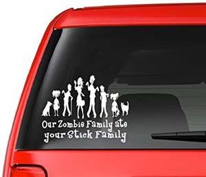 Zombie Family Vinyl Car Sticker