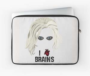 Izombie I Heart Brains Laptop Sleeve