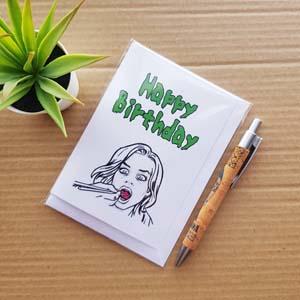 Izombie Liv Birthday Card